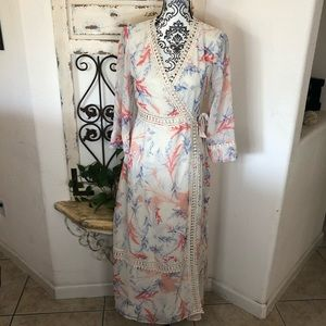 ASOS cottage core boho wrap maxi dress